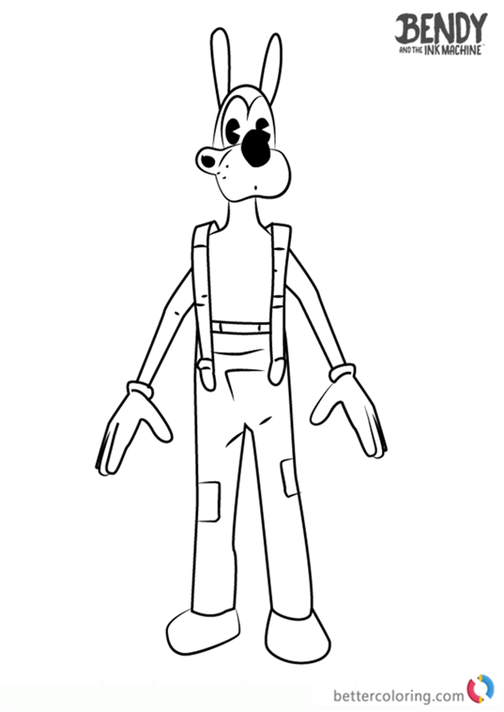 bendy and the ink machine coloring pages bendy and the ink machine coloring pages of boris free