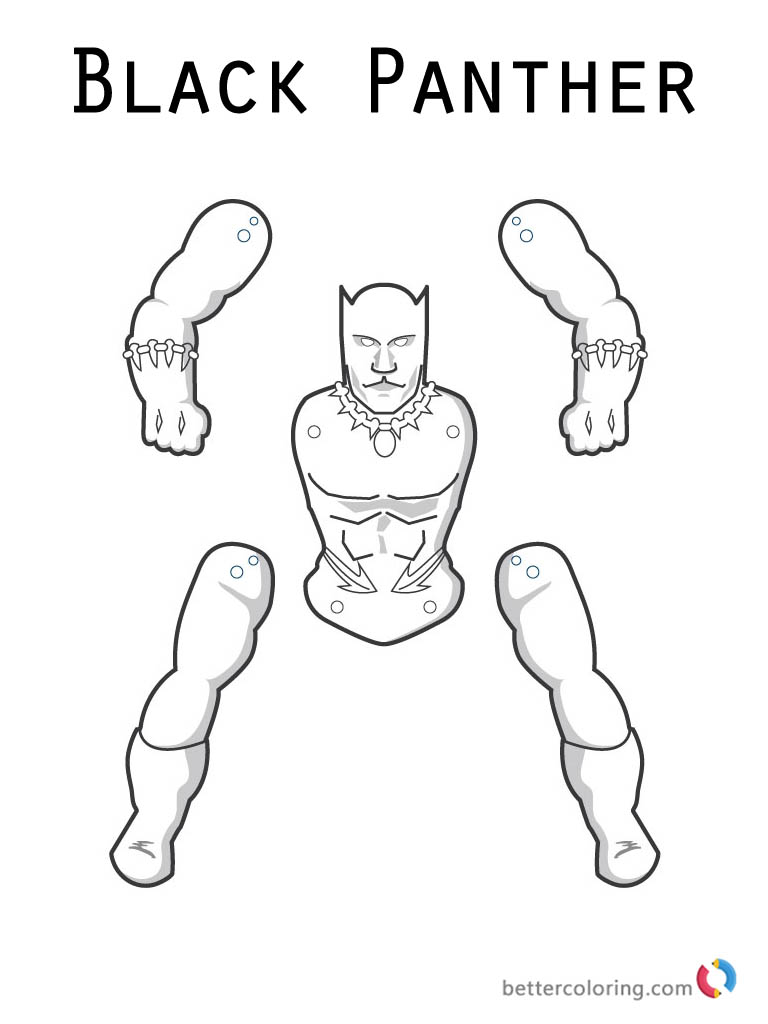 Marvel Moive Black Panther Coloring Page Printable