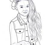 jojo siwa coloring pages - free printable coloring pages