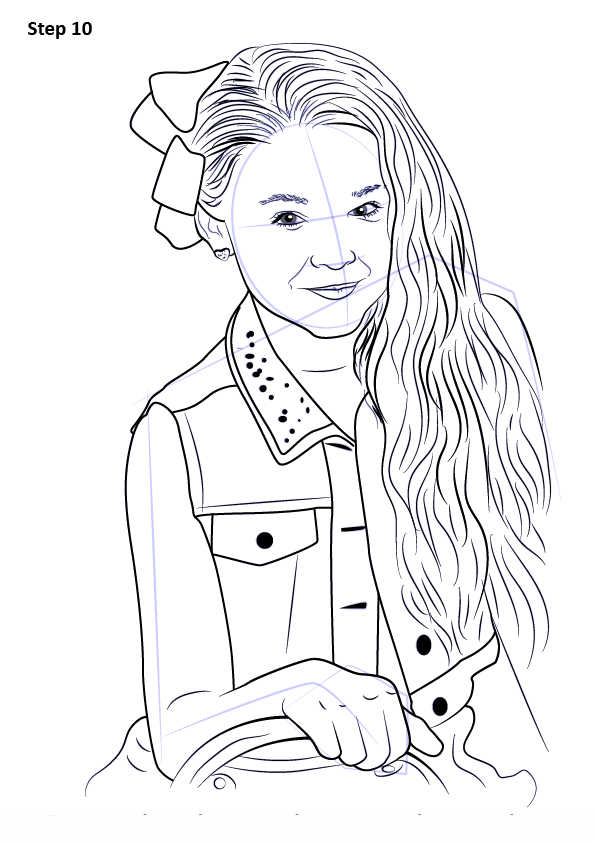 Jojo Siwa Coloring Pages How To Draw Jojo Siwa 10 Free