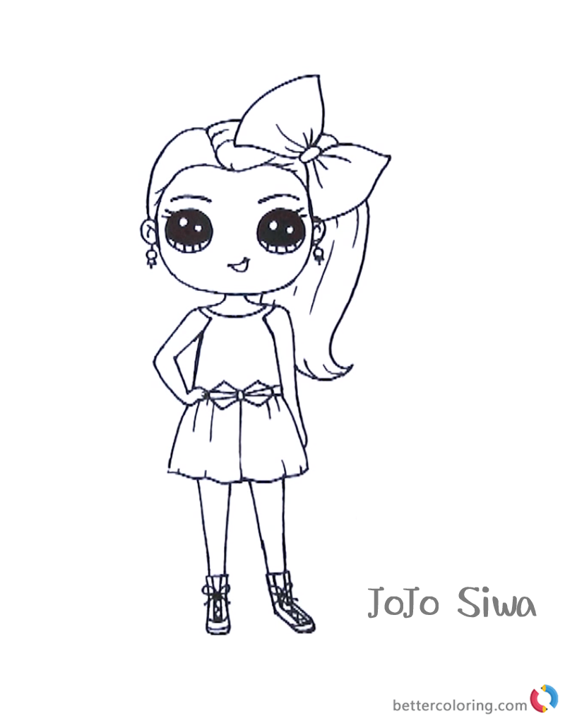 cute jojo siwa coloring pages free printable coloring pages - Cute Printable Coloring Pages