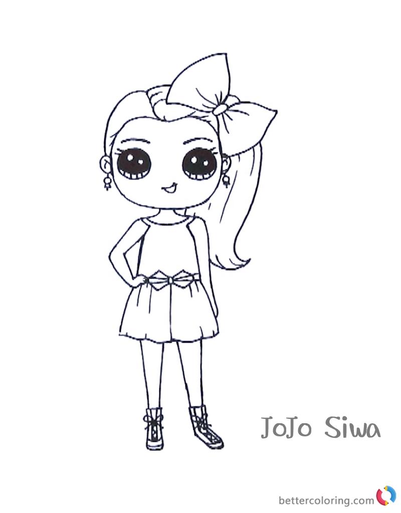 Jojo Siwa coloring pages cute printable