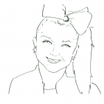 Jojo Siwa Coloring Pages Printable Free