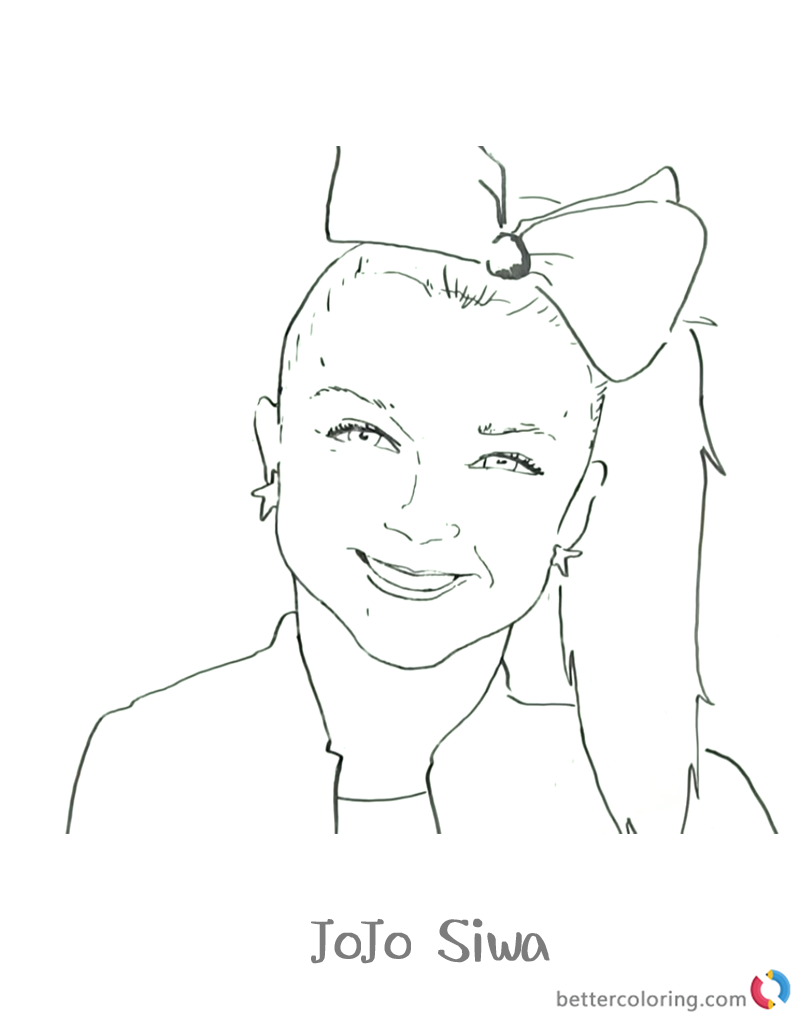 Jojo Siwa Colouring Pages Jojo