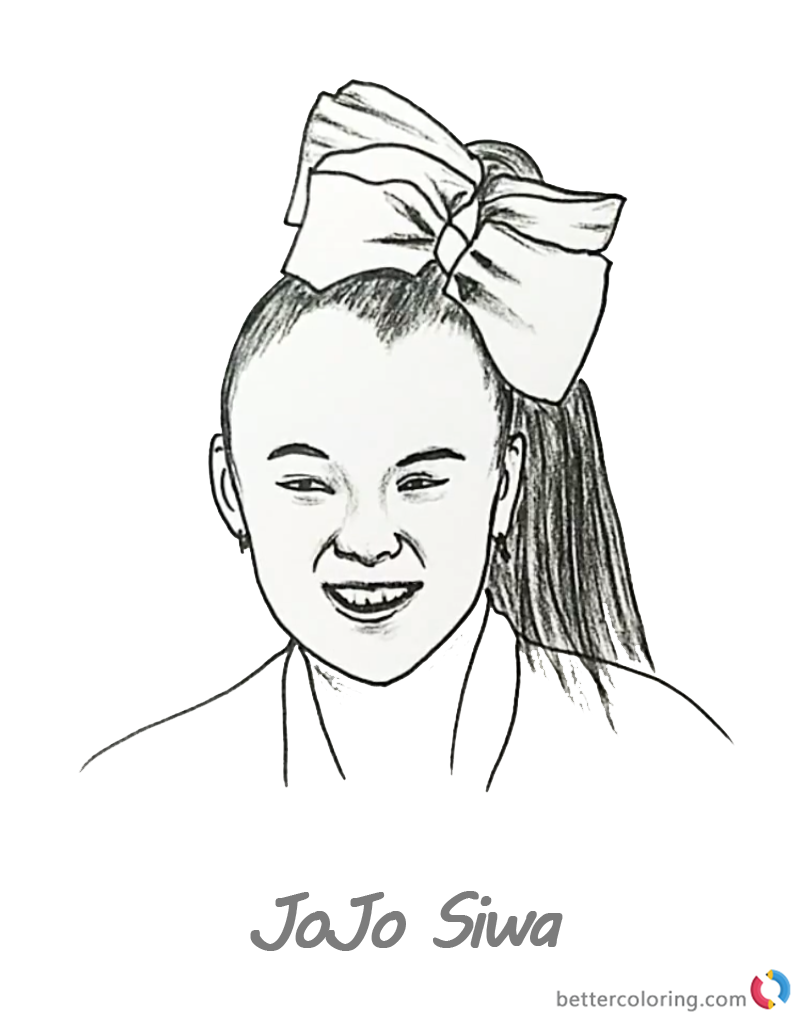 JoJo Siwa Coloring Pages Pencil