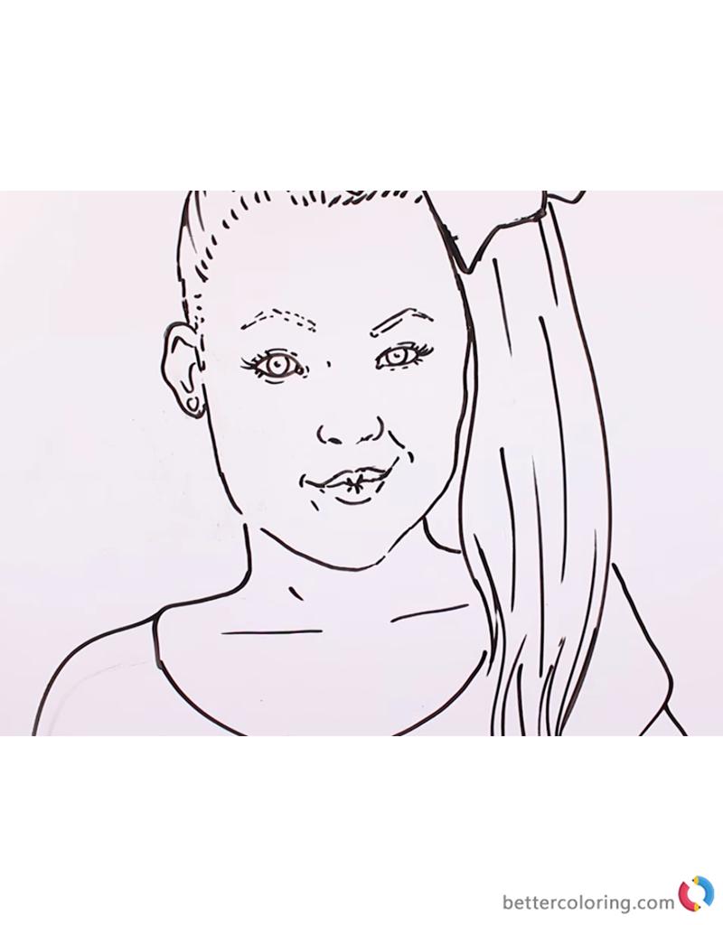 Jojo Siwa Coloring Sheet Free Printable Coloring Pages