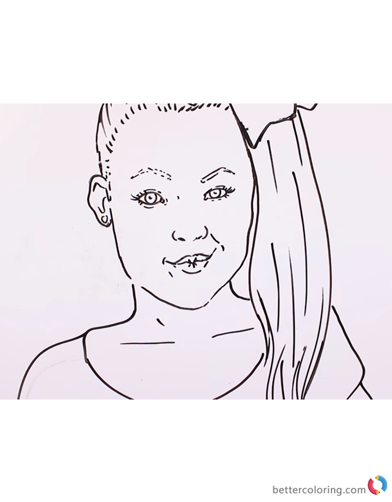 Old Fashioned image pertaining to jojo siwa coloring pages printable