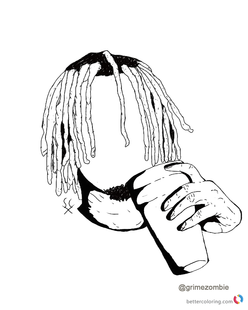 Lil Pump Coloring Pages Gucci Gang