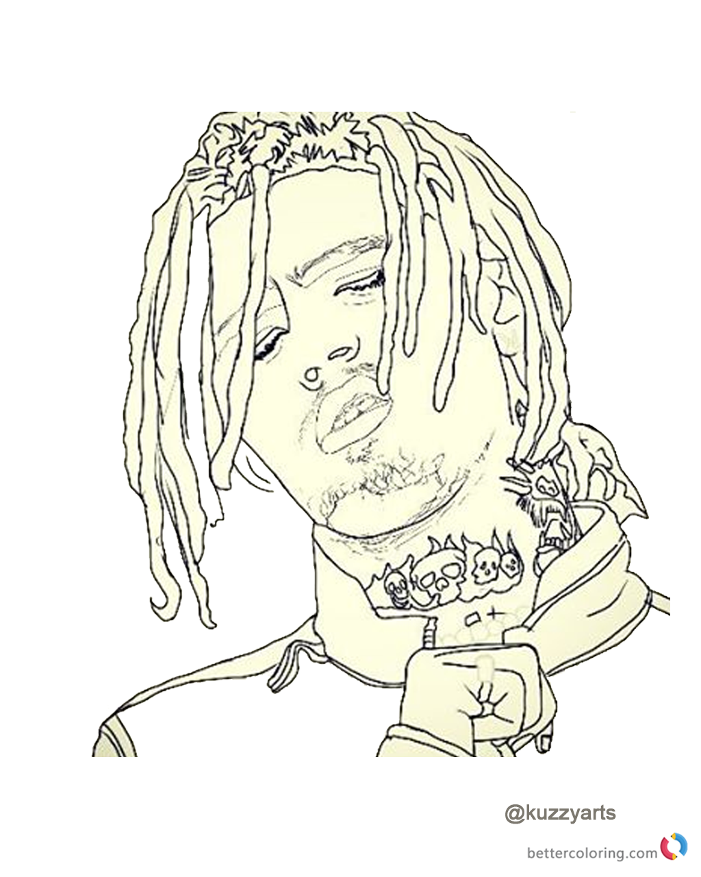 lil pump coloring pages Lil Pump Coloring Picture Fan art   Free Printable Coloring Pages lil pump coloring pages