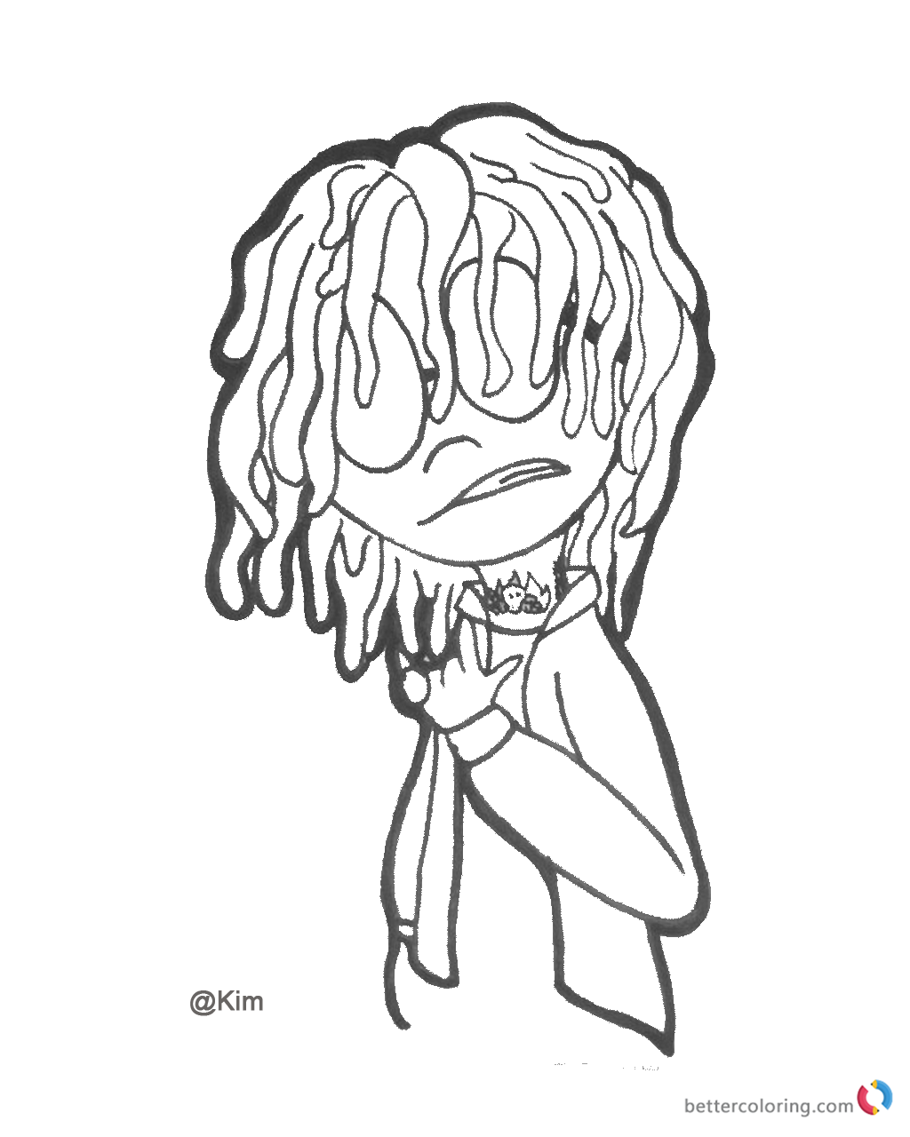 Lil Pump Cartoon Coloring Pages Free Printable Coloring Pages