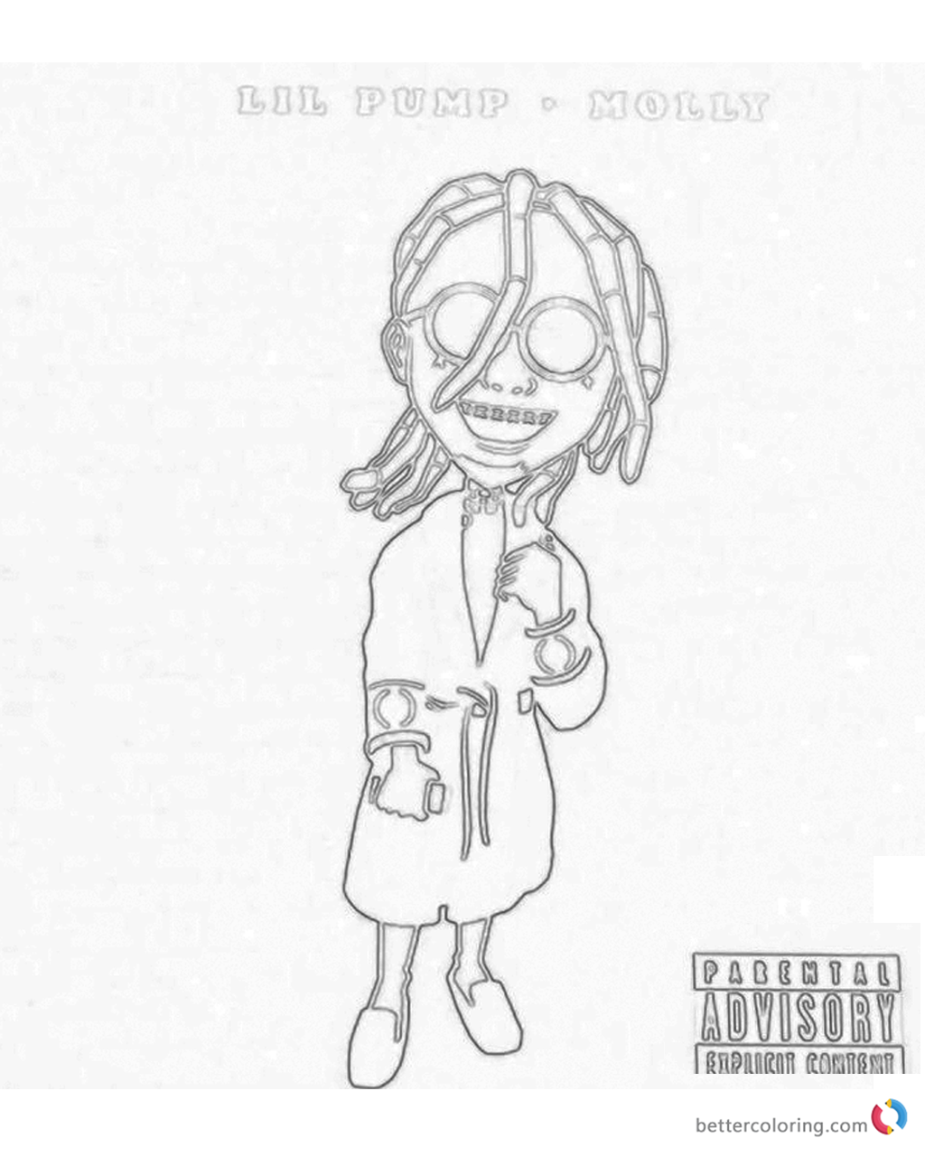 lil pump coloring pages | Lil Pump Coloring Pages Molly - Free Printable Coloring Pages