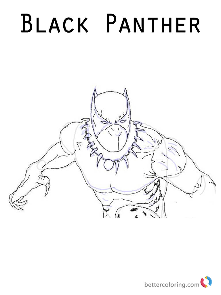 Marvel Moive Black Panther Coloring sheet Printable