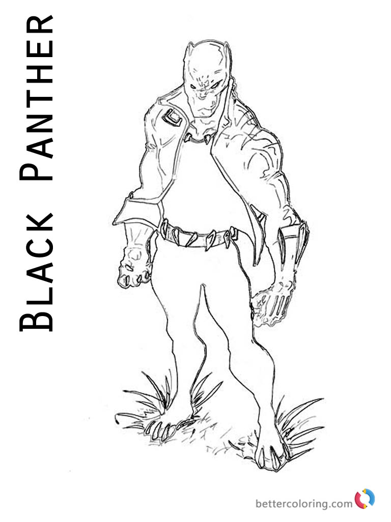 Black Panther Coloring Pages from