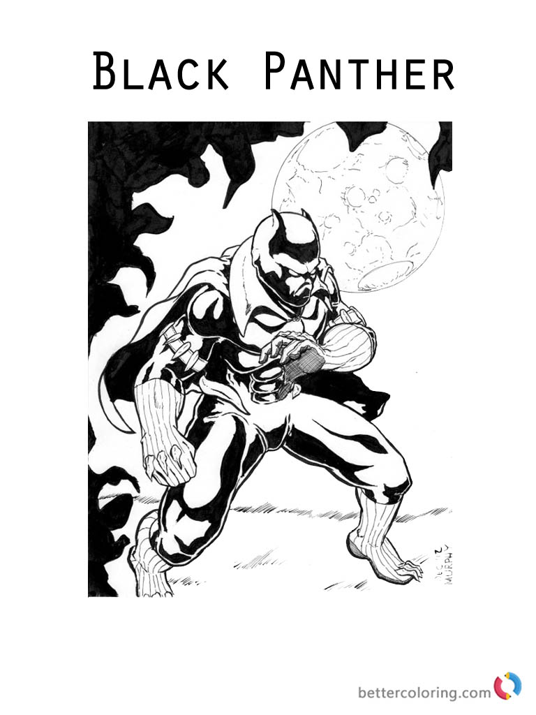Movie Black Panther Coloring Sheet