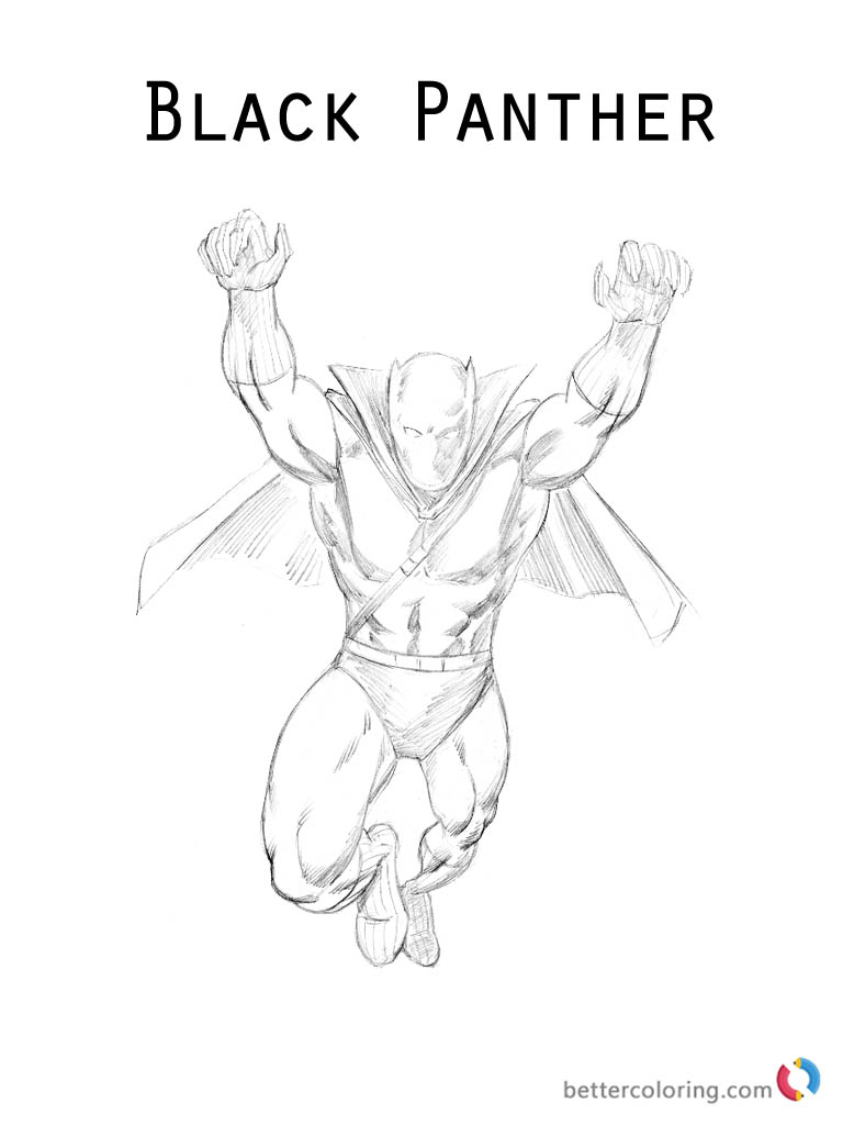 Black Panther Coloring Page of