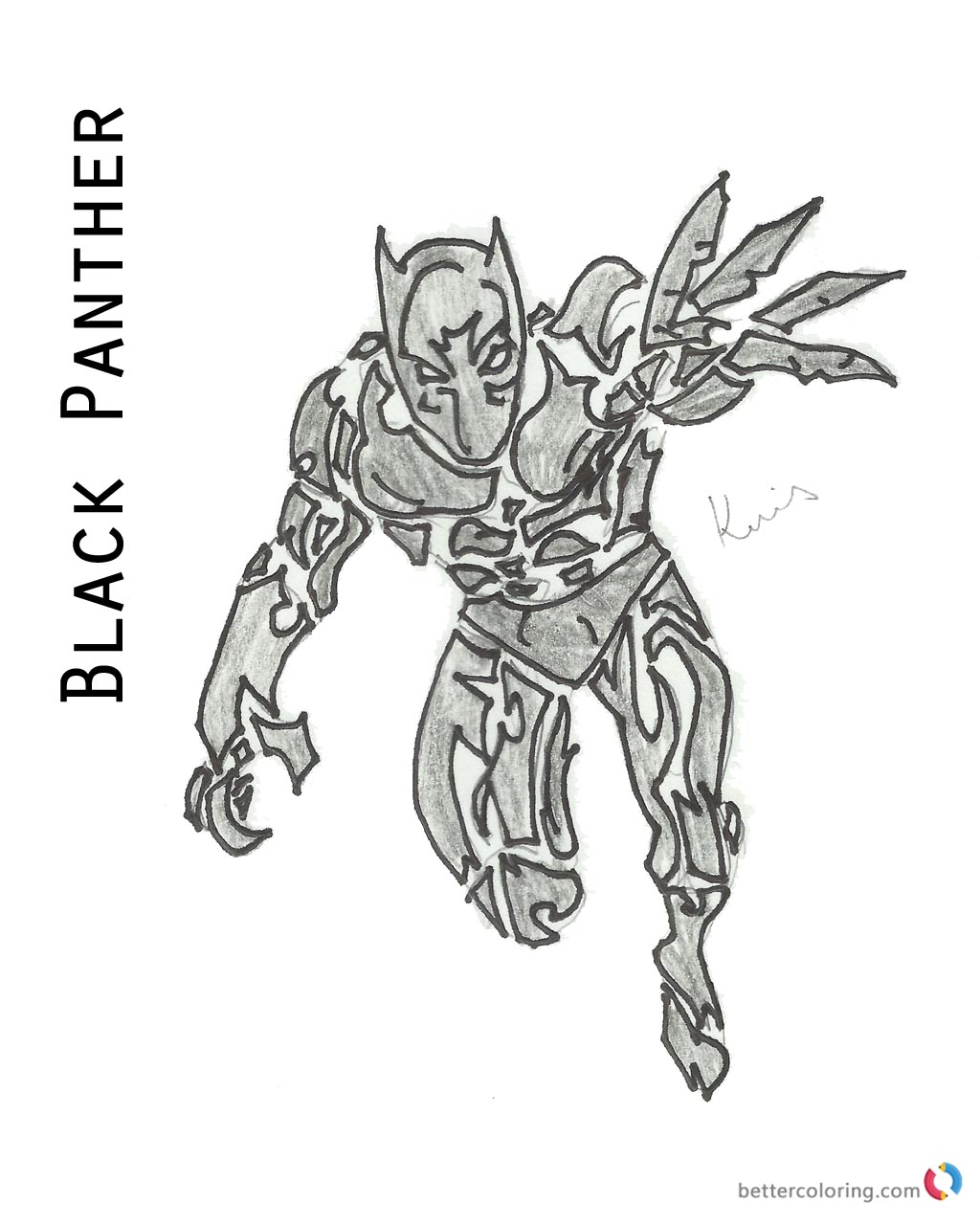 Superhero Thanos Coloring Pages: Marvel Black Panther Coloring Book