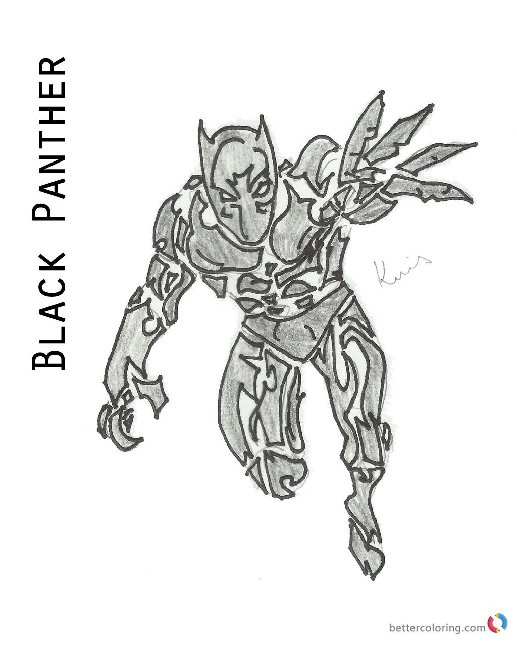Marvel Black Panther Coloring book Free Printable