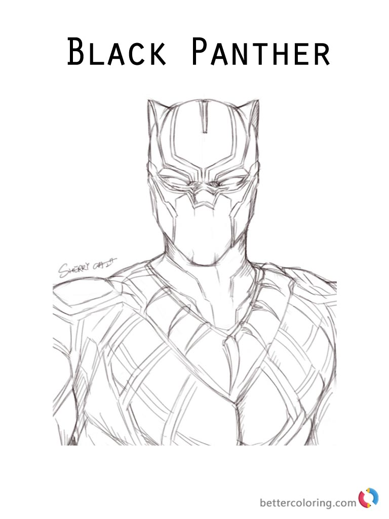 Moive Black Panther Coloring Page Printable