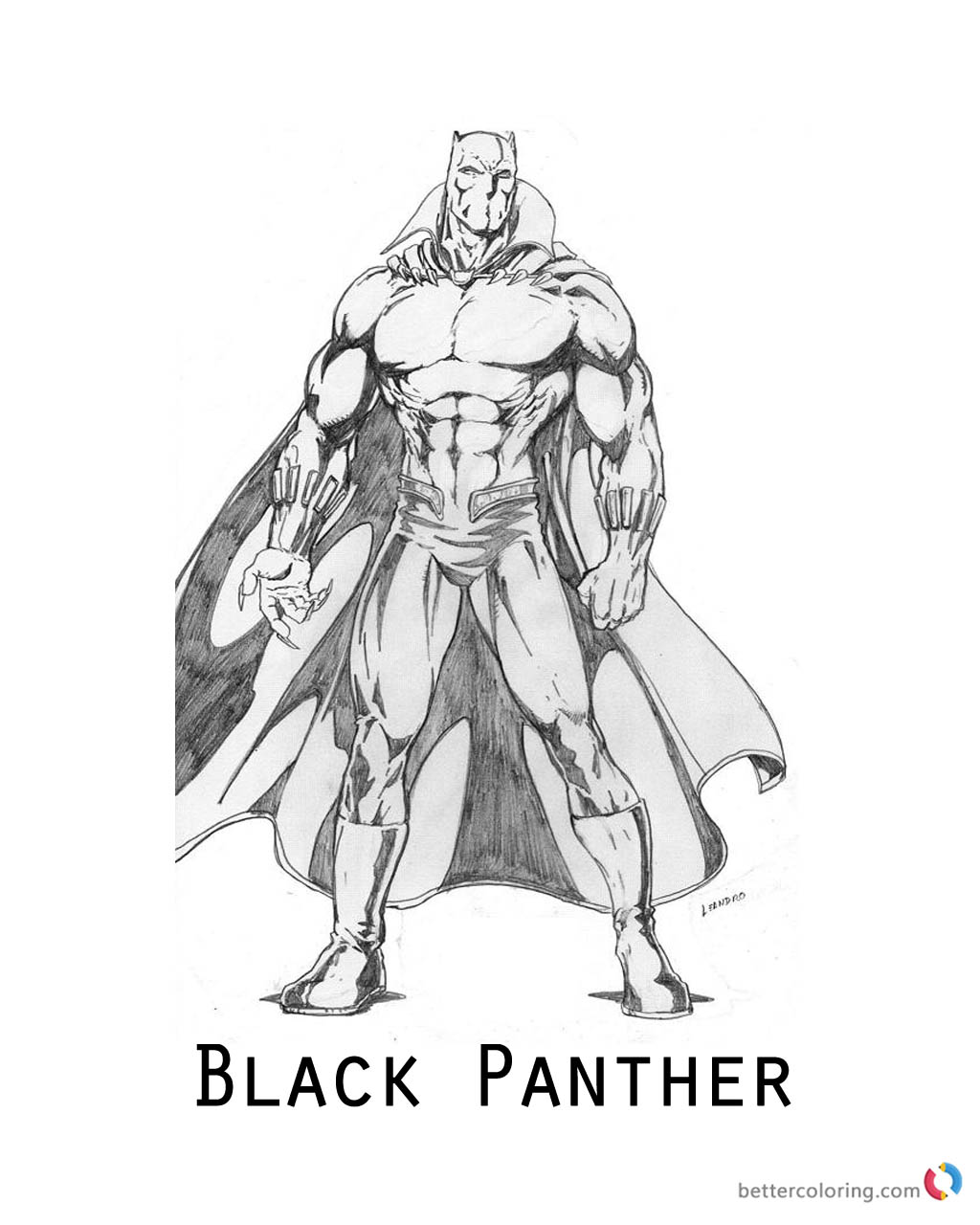 Moive Black Panther Coloring Pages