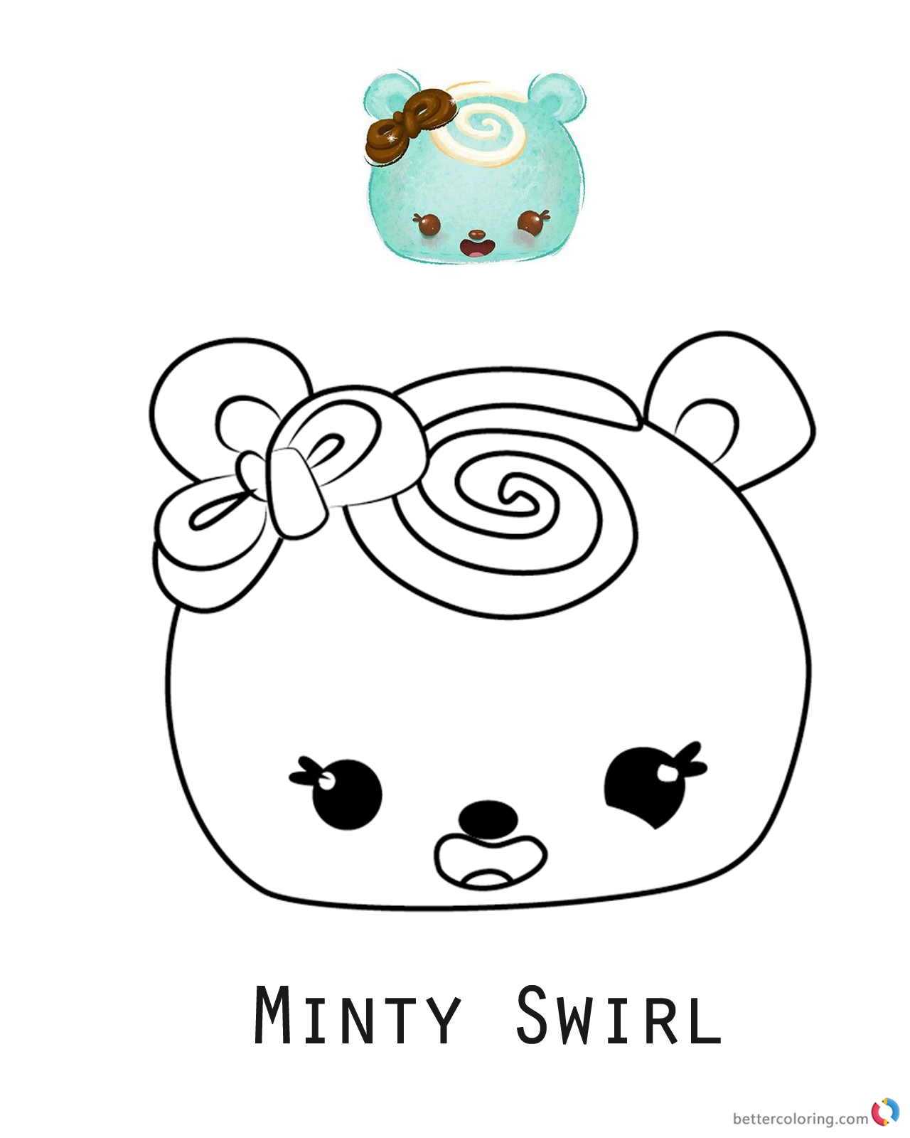 Num Noms Coloring pages Minty Swirl printable