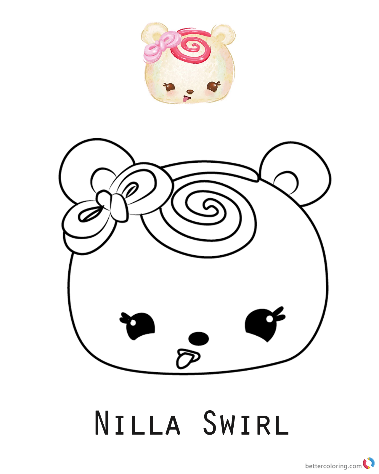 Num Noms Coloring pages Nilla Swirl printable