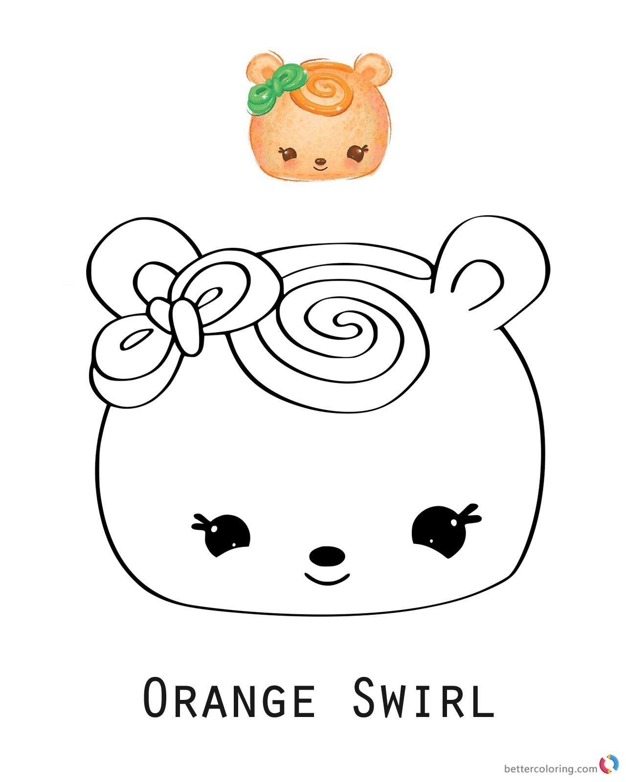 Num Noms Coloring pages Orange Swirl printable