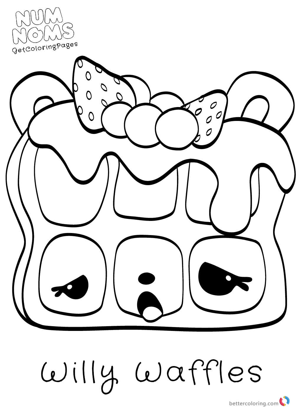 Num Noms Coloring Pages Free