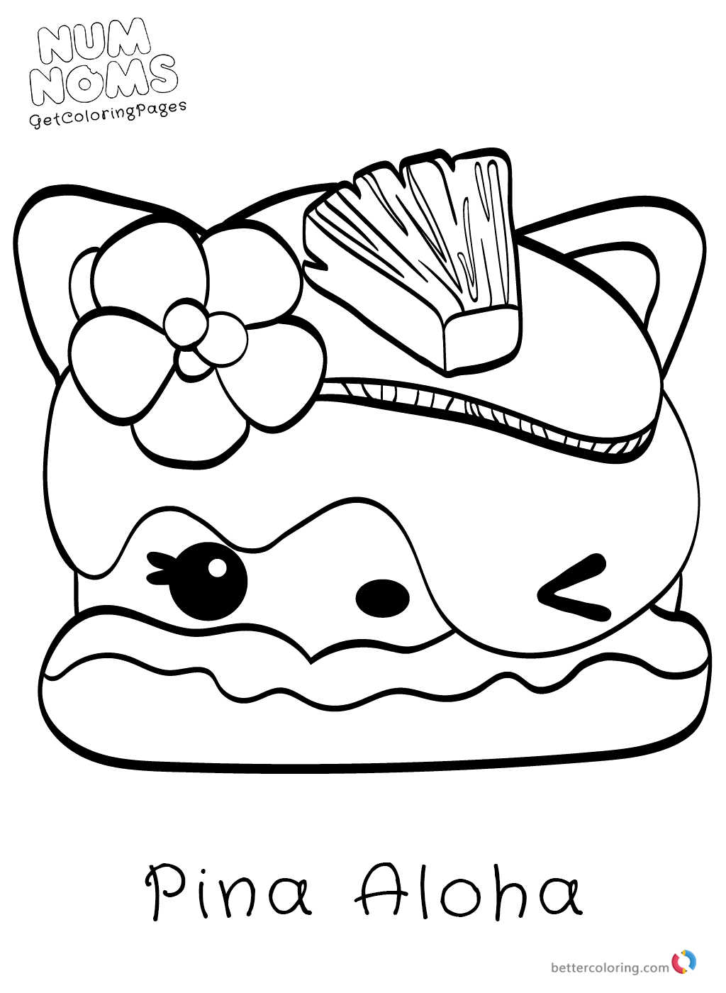 Num Noms Coloring Pictures - Free Printable Coloring Pages
