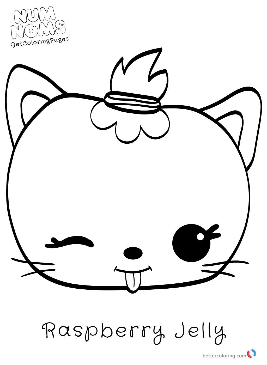 Num Noms Coloring Page Raspberry Jelly Printable