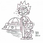 Coloring Pages Of Rick And Morty Outline Free Printable Coloring Pages