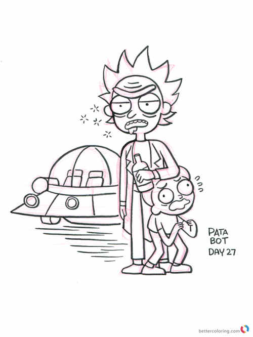 Rick And Morty Forever And Ever Coloring Page Printable