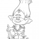 trolls coloring pages warrior branch