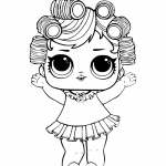 Baby doll from LOL Surprise Doll Coloring Pages