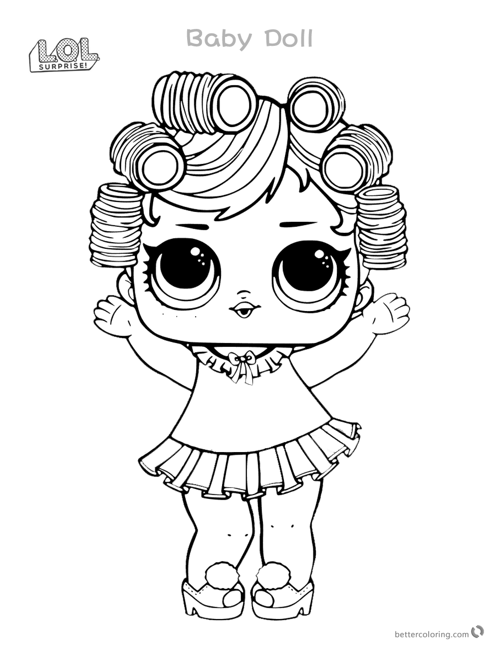Babydoll From LOL Surprise Doll Coloring Pages Printable