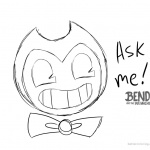 Bendy and the ink machine coloring pages ask bendy by space dork