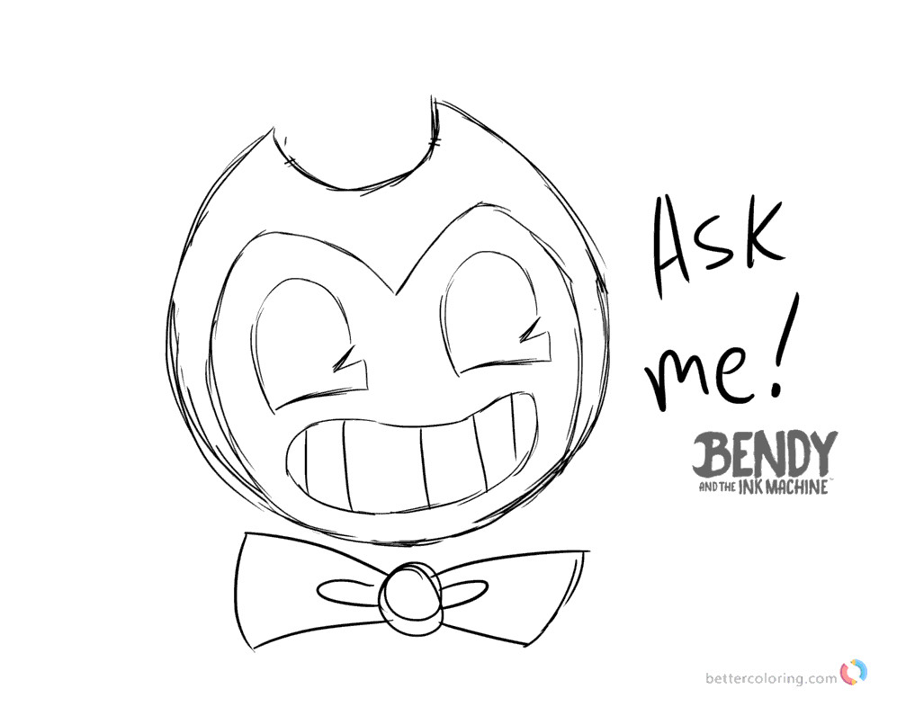 Bendy and the ink machine coloring pages ask bendy printable