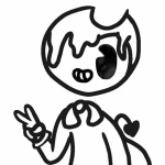 Bendy and the ink machine coloring pages cute melty bendy