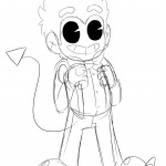 Bendy and the ink machine coloring pages human bendy by space dork