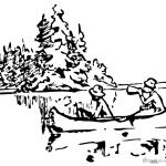 Canoeing Coloring Pages Canoeing near a island