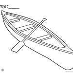 Canoeing Coloring Pages One Canoe with a Paddle