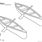 Canoeing Coloring Pages Two Canoes