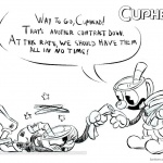 Cuphead Coloring Pages Cuphead Fell Down