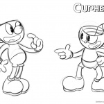 Cuphead Coloring Pages Cuphead and Mugman WIP