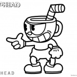 Cuphead Coloring Pages Cuphead say something