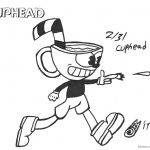 Cuphead Coloring Pages Inktober Cuphead shooting