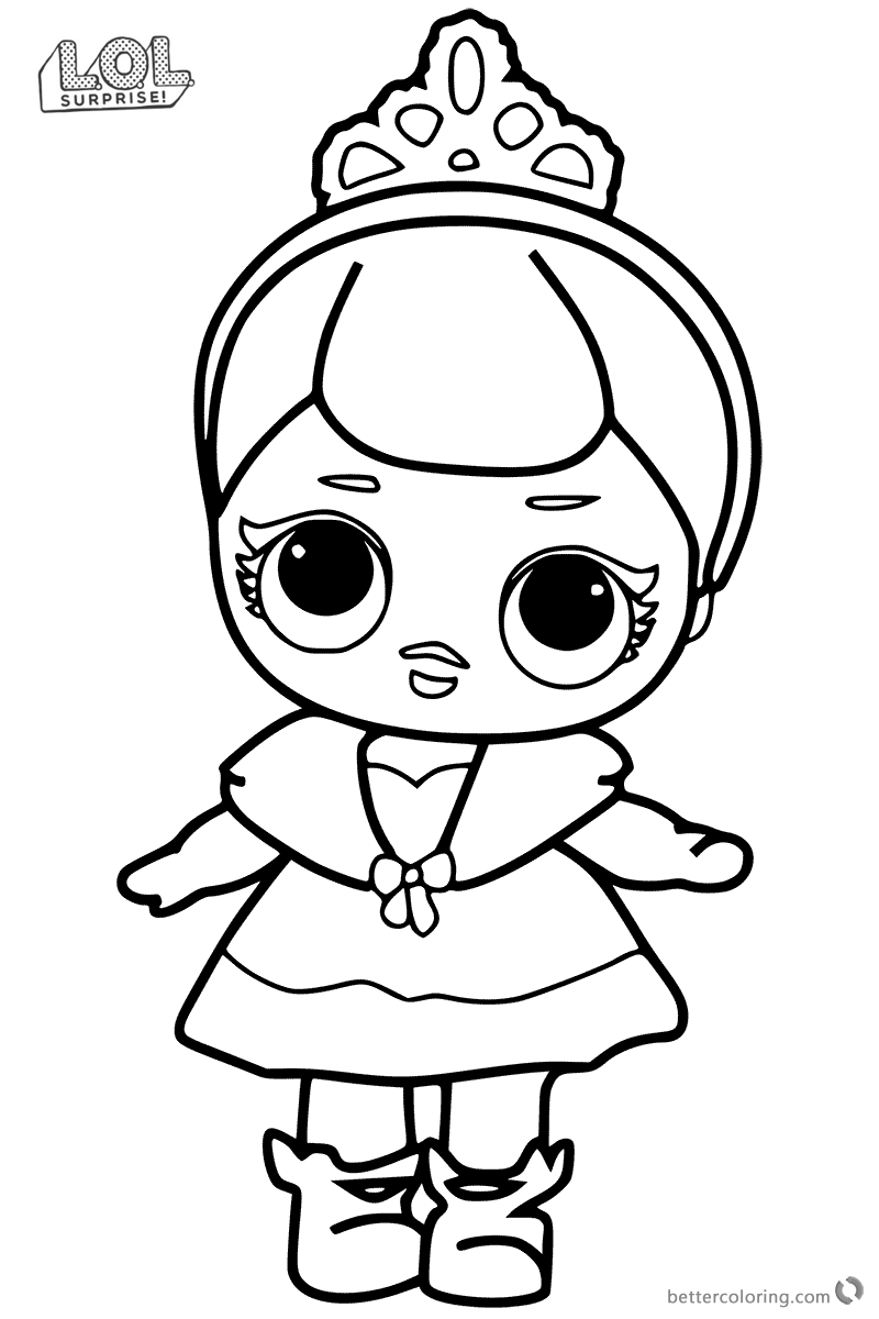 Cute Lol Surprise Doll Coloring Pages Free Printable Coloring Pages