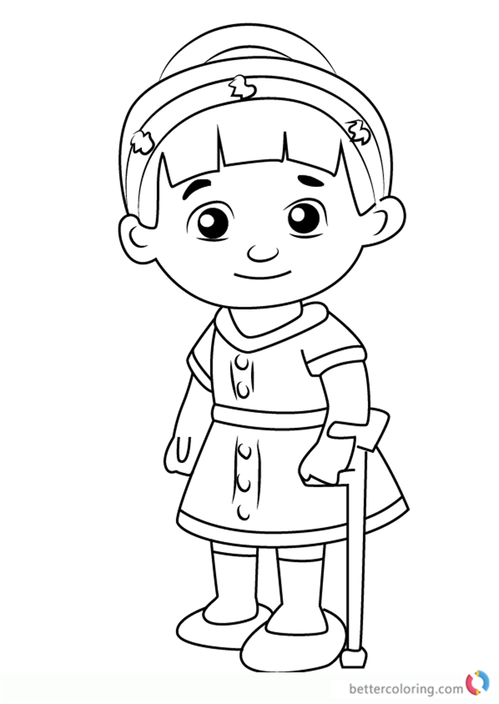 Chrissie from daniel tiger coloring pages free printable for Daniel tiger coloring pages
