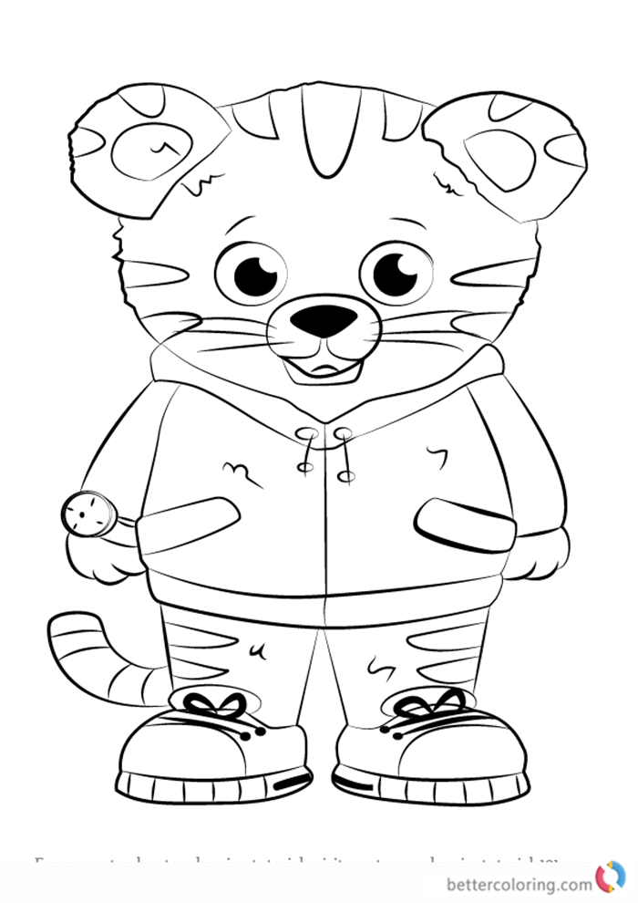 photograph about Daniel Tiger Coloring Pages Printable titled Daniel Tiger towards Daniel Tiger Coloring Webpages - No cost