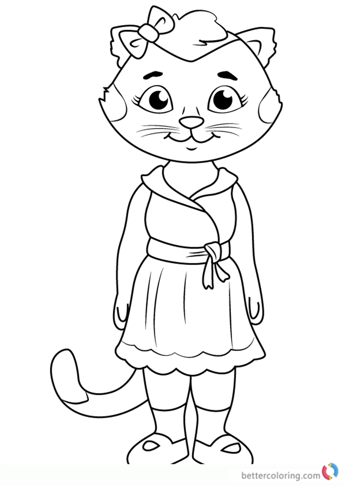 Henrietta Pussycat from Daniel Tiger Coloring Pages Free