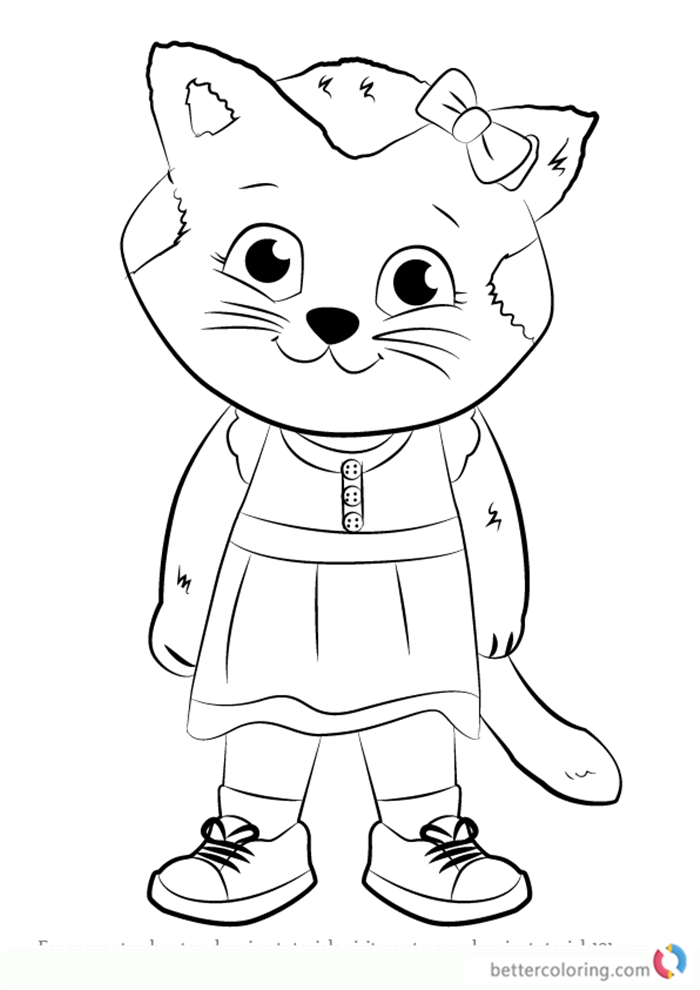 Katerina Kittycat from Daniel Tiger Coloring Pages Free